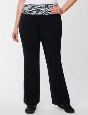 Yoga pant with zebra waist