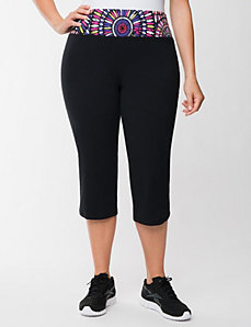 Active capri with mosaic waist by LANE BRYANT
