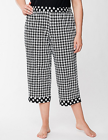 Houndstooth & dots sleep crop