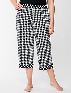 Houndstooth & dots sleep crop by LANE BRYANT