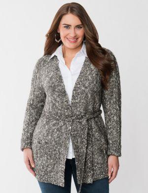 Marled sweater coat