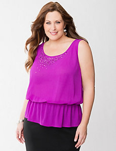 Sequined peplum tank by LANE BRYANT