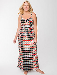 Tru to You diamond print maxi lounger by LANE BRYANT