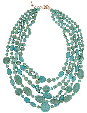 Five row turquoise necklace by Lane Bryant