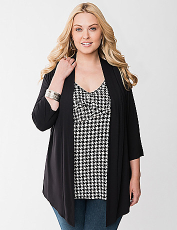 Houndstooth layered top