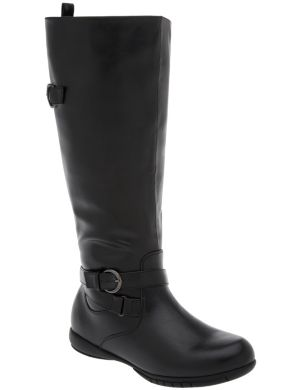 Riding boot with comfort sole