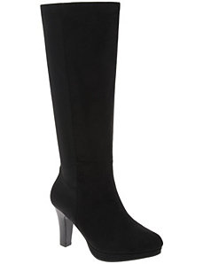 Stretch back heeled boot by Lane Bryant