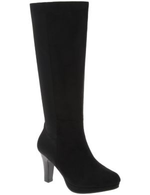 Stretch back heeled boot
