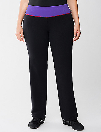 Yoga pant with printed waist