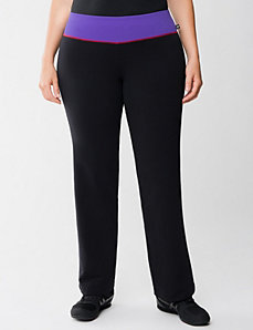 Yoga pant with mesh waist by Lane Bryant