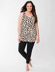 Animal print tank & legging sleep set