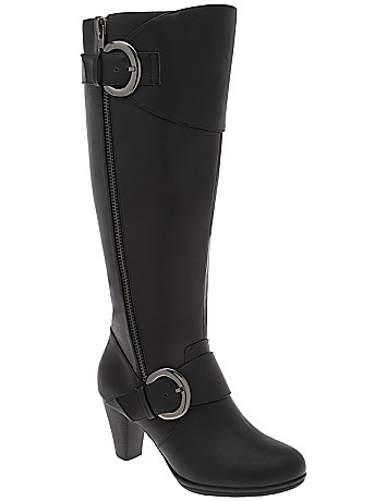 Buckled dress boot