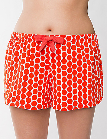 Polka dot knit sleep short