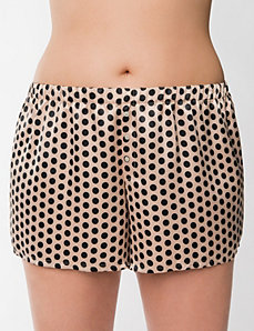 Tru to You charmeuse polka dot short