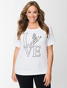 Zebra sequin tee by LANE BRYANT