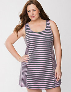 Sporty stripe chemise by LANE BRYANT