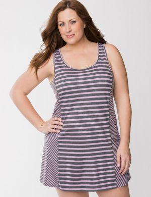 Sporty stripe chemise