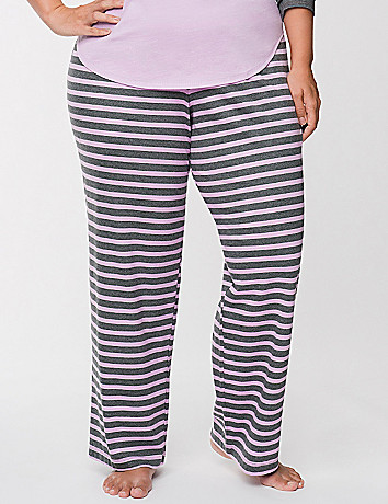 Striped knit sleep pant