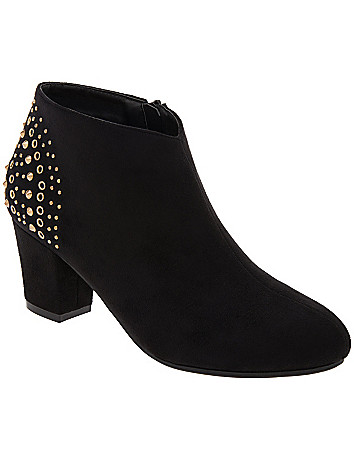 Studded back bootie