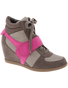 Colorblock wedge sneaker by LANE BRYANT