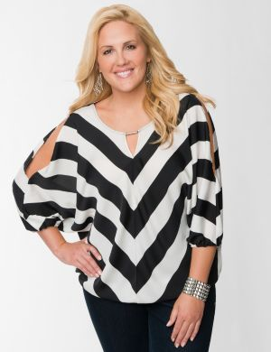 Chevron wedge blouse