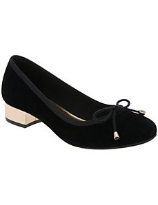 Ballet pump with metallic heel by LANE BRYANT
