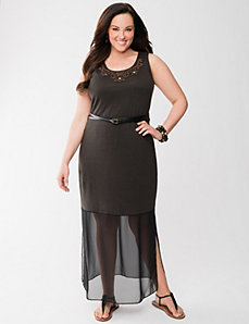 Lane Collection chiffon hem maxi dress by LANE BRYANT