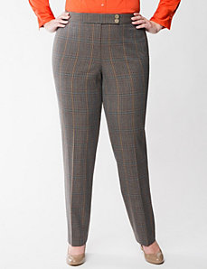 Lena Smart Stretch plaid straight leg pant by LANE BRYANT