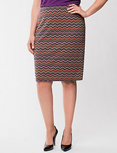 Chevron pencil skirt by LANE BRYANT