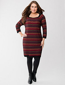 Geo sparkling sweater dress
