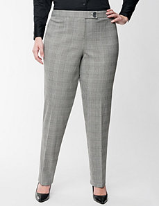 Lena Smart Stretch glen plaid pant by LANE BRYANT