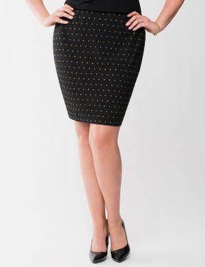 Lane Collection studded ponte pencil skirt