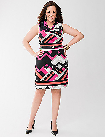 Lane Collection fragmented stripe dress