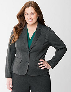 Jacquard ponte jacket by LANE BRYANT