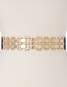 Chain buckle stretch belt