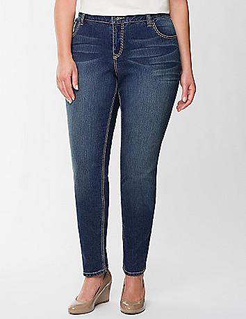 Fleur de lis skinny jean