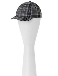 Plaid ball cap by LANE BRYANT