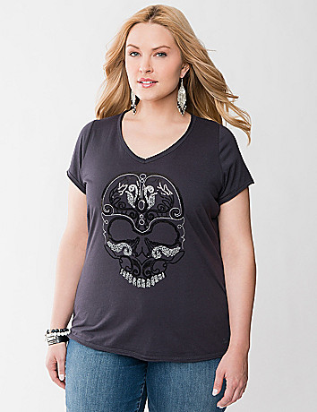 Sequin skull tee by Seven7
