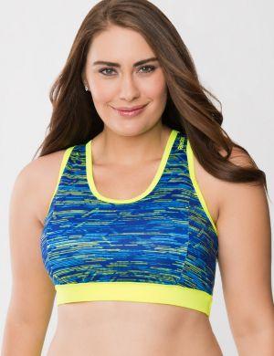 Printed sport bra by Reebok