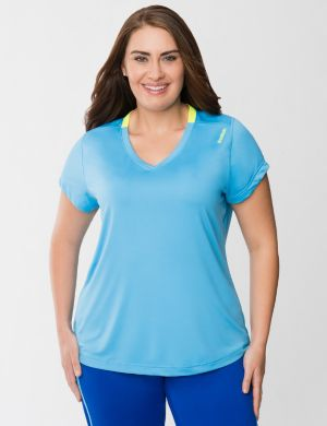 V-neck workout top by Reebok