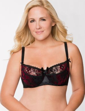 Velvet French balconette bra