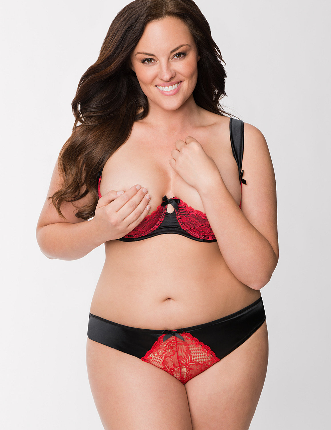 Full figure Lace quarter cup bra  Lane Bryant