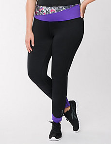 Colorblock active tight by Reebok by LANE BRYANT