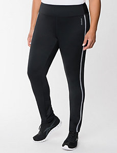 Racing stripe legging by Reebok by LANE BRYANT