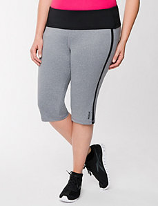 Roll down waist capri by Reebok by LANE BRYANT