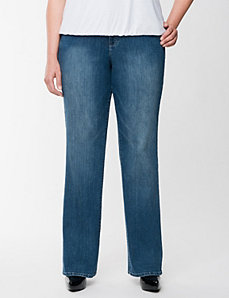 Straight leg jean with Tighter Tummy Technology by Lane Bryant