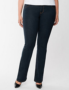 Genius Fit™ straight fit slim boot jean by Lane Bryant