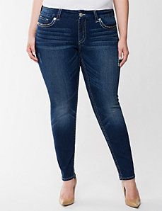 Ombre stitch ankle jean by Seven7 by LANE BRYANT