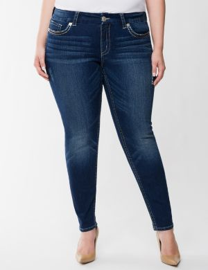 Ombre stitch ankle jean by Seven7
