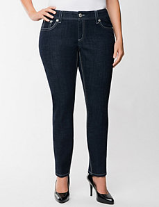 Pleather embellished skinny jean by Seven7
